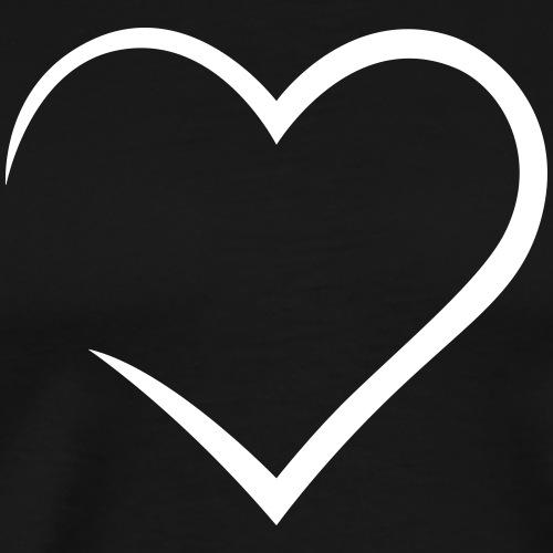 Heart - Love - Männer Premium T-Shirt