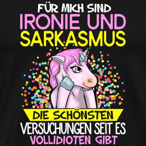 Einhorn Ironie - Männer Premium T-Shirt