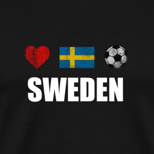 Sweden Football Swedish Soccer T-shirt - Premium-T-shirt herr