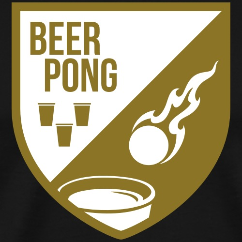 Beer Pong Patch II - Männer Premium T-Shirt