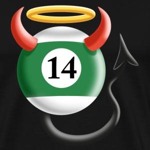 Billard Kugel 14 ...mal Engel und auch Teufel - Männer Premium T-Shirt