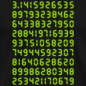 Pi mathematics Kreiszahl Symbol Genie Big Bang Geek - Men's Premium T-Shirt