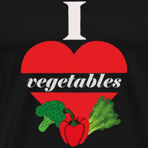 Herz für Gemüse Geschenkidee vegan - Männer Premium T-Shirt