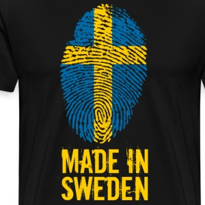 Made In Sweden / Sverige / Sverige - Premium-T-shirt herr