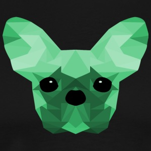 French Bulldog Low Poly Design turquoise - Men's Premium T-Shirt