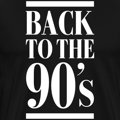 Back To The 90's - Männer Premium T-Shirt