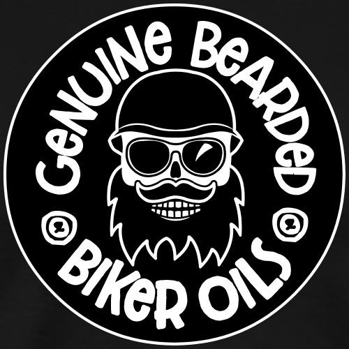 bearded biker Oils - Joey J skull logo - Männer Premium T-Shirt