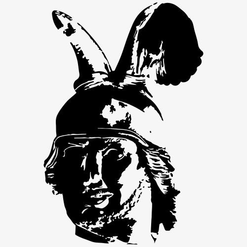 Kopf des Hermannsdenkmals - einfarbig, schlicht - Männer Premium T-Shirt