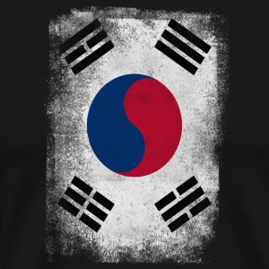 South Korea Flag Proud Korean Vintage Distressed - Premium-T-shirt herr