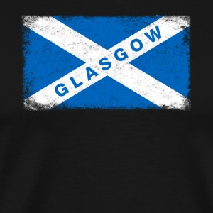 Glasgow Shirt Vintage Scotland Flag T-Shirt - Men's Premium T-Shirt