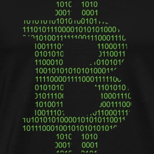 Bitcoin Symbol Gruen - Männer Premium T-Shirt
