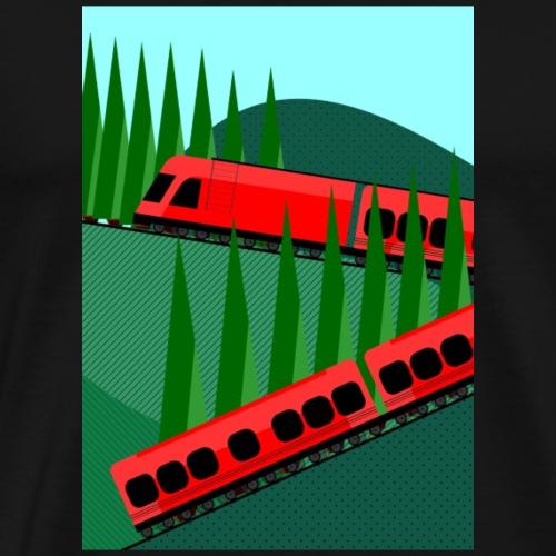 Treno - Maglietta Premium da uomo