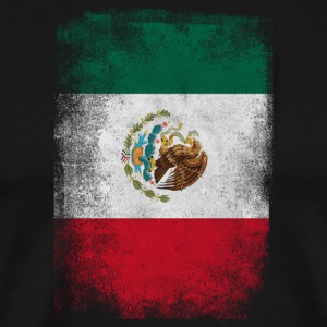 Mexico Flag Proud Mexican Vintage Distressed - Premium-T-shirt herr