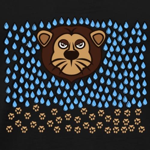Löwe im Regen - Männer Premium T-Shirt