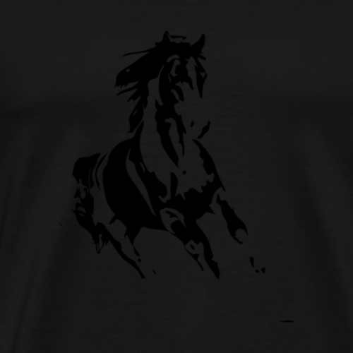 running horse 01 - Men's Premium T-Shirt