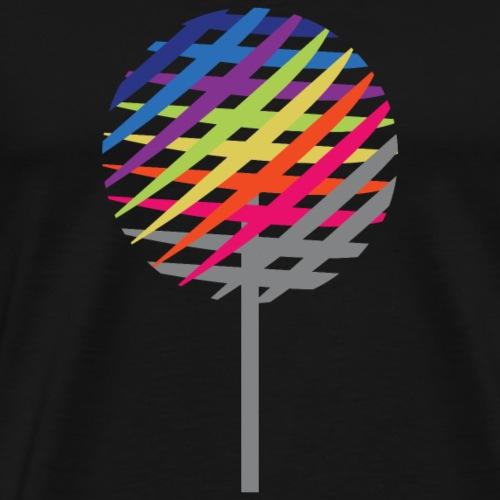 Rainbow Tree - Premium T-skjorte for menn