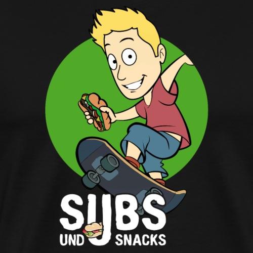 Subs und Snacks Skateboarder - Männer Premium T-Shirt