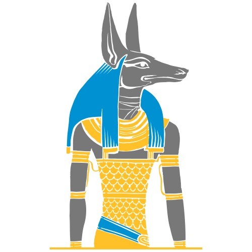Der altägyptische Gott Anubis - Männer Premium T-Shirt