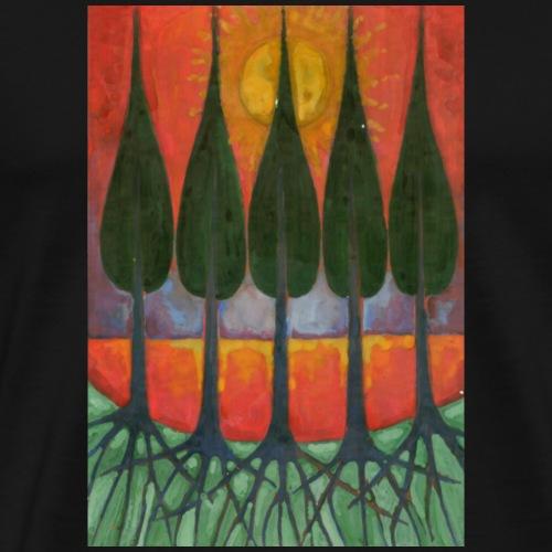 Czerwony Zachód Słońca - Koszulka męska Premium