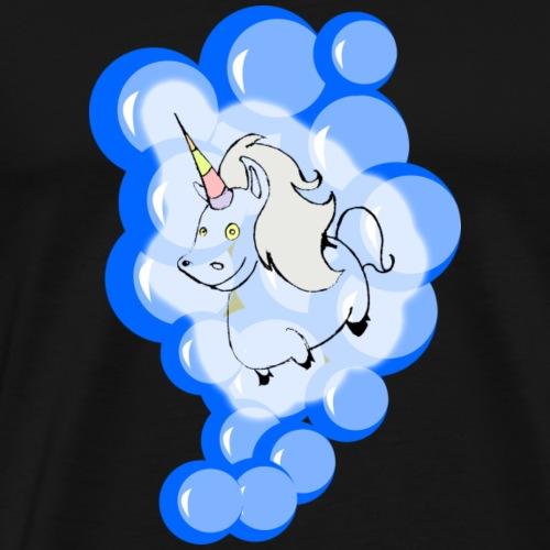 BUBBLE UNICORN - Männer Premium T-Shirt