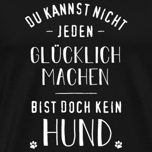 Glücklich machender Hund. - Männer Premium T-Shirt