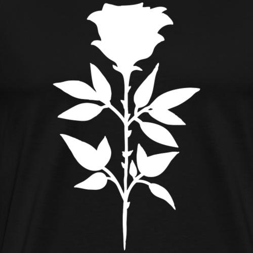 Rose blanche - T-shirt Premium Homme