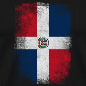 Dominic Dominican Republic Flag Vintage Distressed - Men's Premium T-Shirt