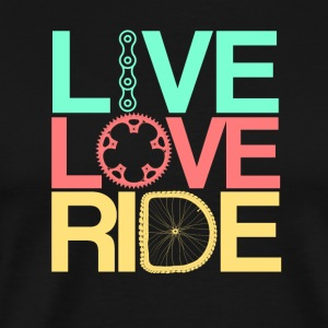 Live, Love, Ride - Herre premium T-shirt
