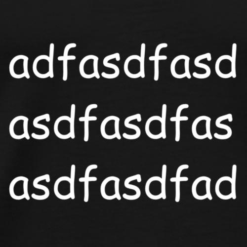 Cami asdf - Camiseta premium hombre
