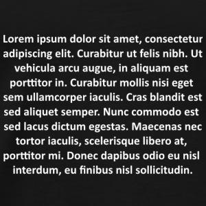 Lorem ipsum - Camiseta premium hombre