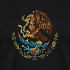 Mexican Coat of Arms Mexico Symbol - Premium-T-shirt herr