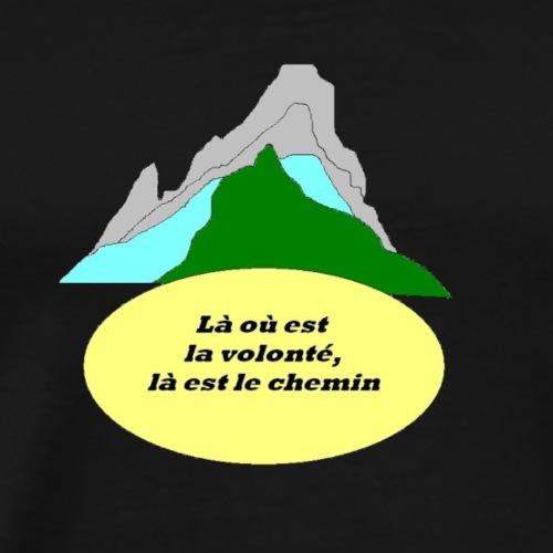 Volonté et chemin - T-shirt Premium Homme