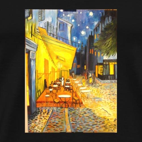terrazza del caffe la sera place du forum Arles v - Maglietta Premium da uomo