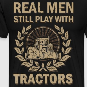 Real mannermouse still playing with tractors - Men's Premium T-Shirt