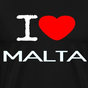 I LOVE MALTA - Premium T-skjorte for menn