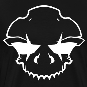 BAD_SKULL_2.0_WHITE - Premium T-skjorte for menn