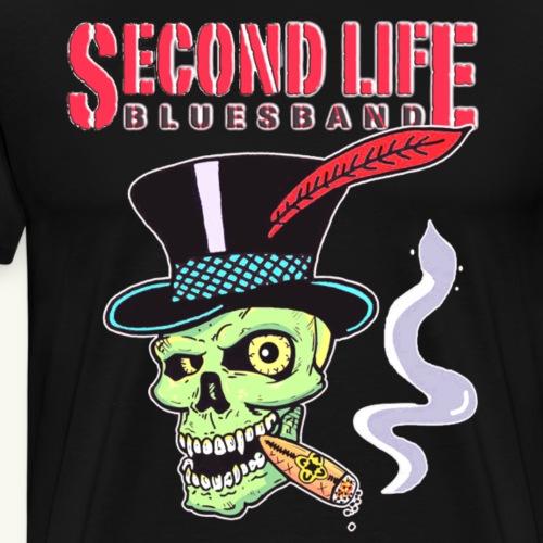 Second Life Bluesband Zylinder Skull - Männer Premium T-Shirt