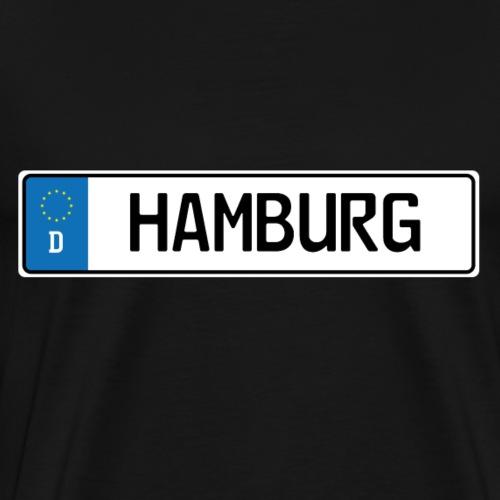Kennzeichen Hamburg - Männer Premium T-Shirt