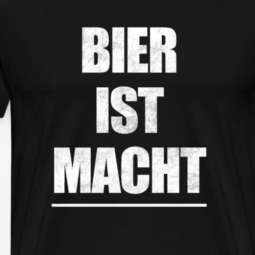 Bier ist Macht - Männer Premium T-Shirt