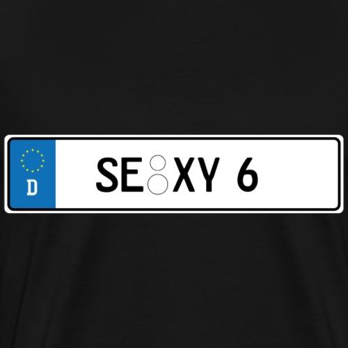 Kennzeichen Sexy - Männer Premium T-Shirt