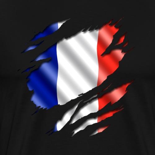 Frankreich unter Deinem Shirt - Männer Premium T-Shirt