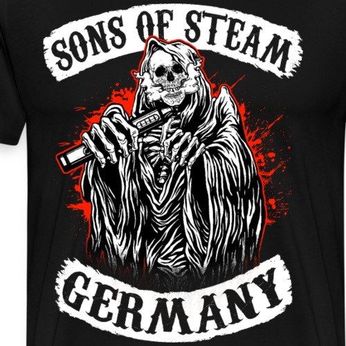 Sons Of Steam - Germany Dampfer T-Shirt - Männer Premium T-Shirt