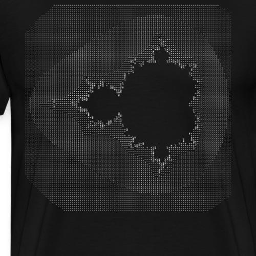 nerd mandelbrot ascii code programmer pc hacker IT - Männer Premium T-Shirt