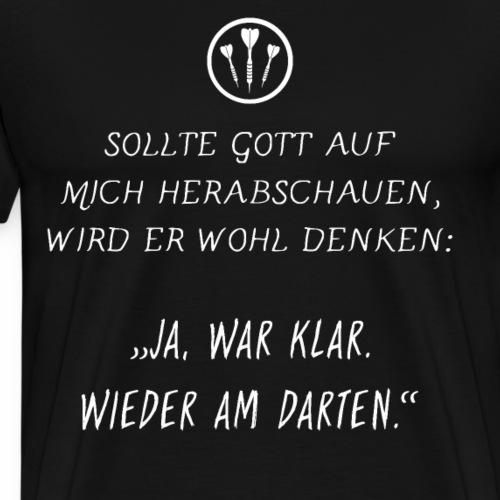 Dart - Immer am Darten - Männer Premium T-Shirt
