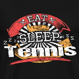 Eat Sleep Tennis - Premium-T-shirt herr