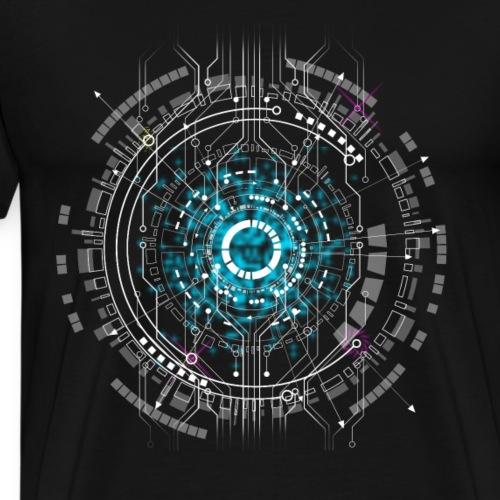 computer Space cpu pc Nerd Platine Warp geek game - Männer Premium T-Shirt