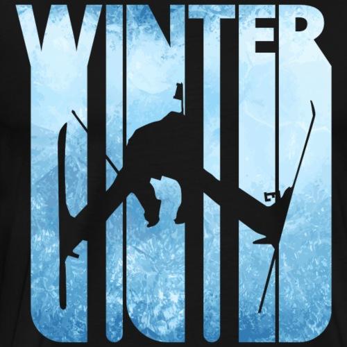 Retro Vintage Winter Holiday Gifts. Skiing.Sports. - Men's Premium T-Shirt