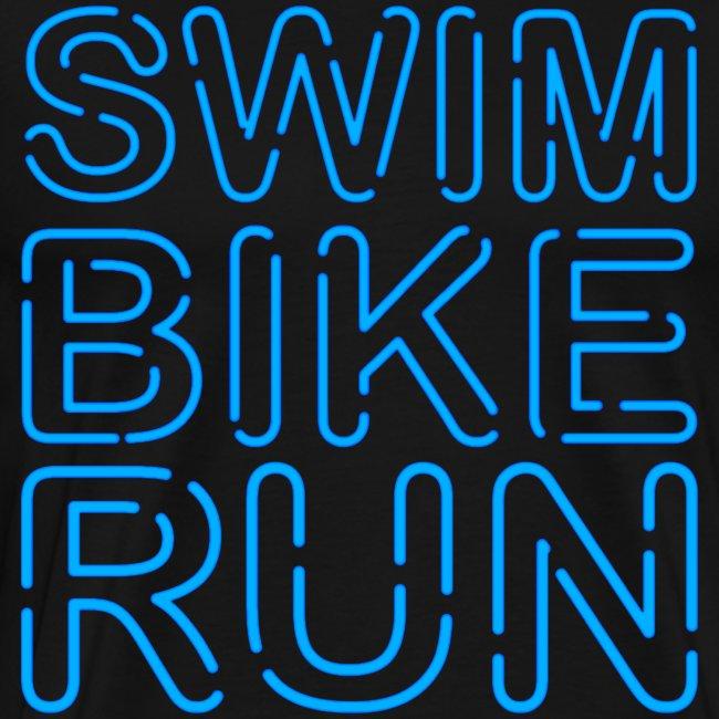 Neon Swim Bike Run Triathlon
