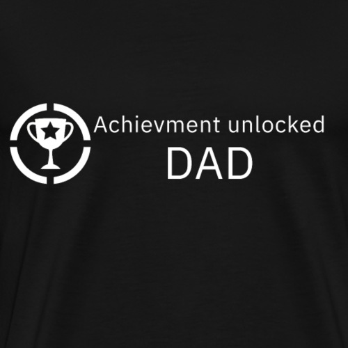 Achievment Unlocked - DAD | Gamer Design - Männer Premium T-Shirt