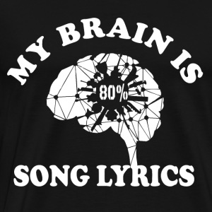 song lyrics - Mannen Premium T-shirt